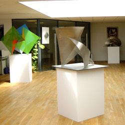 Exposition sculptures Thierry Vidé Saints de Glace 2003